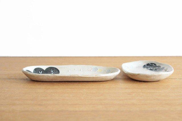 雫の森 長小皿 光の露 陶器 こむろしずか 画像2