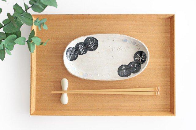 雫の森 長小皿 光の露 陶器 こむろしずか 画像6