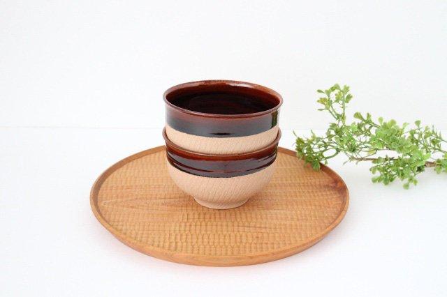 どんぐり鉢 アメ 陶器 圭秀窯 小石原焼 画像2