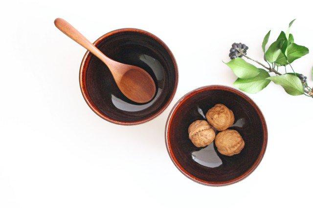 どんぐり鉢 アメ 陶器 圭秀窯 小石原焼 画像3