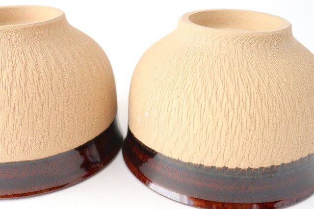 どんぐり鉢 アメ 陶器 圭秀窯 小石原焼 画像4