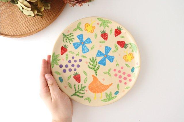 【一点もの】色絵付け大皿 陶器 工房双子堂 やちむん 画像2