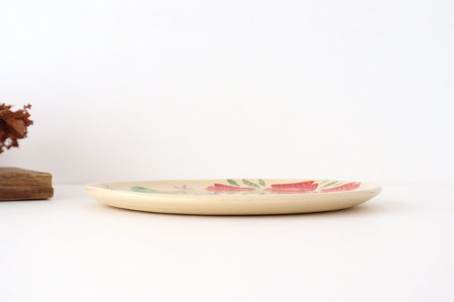 【一点もの】色絵付け大皿 陶器 工房双子堂 やちむん 画像4