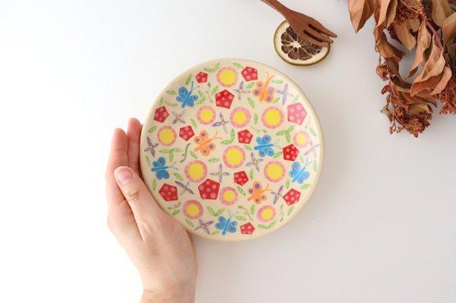 【一点もの】色絵付け丸皿 陶器 工房双子堂 やちむん 画像2