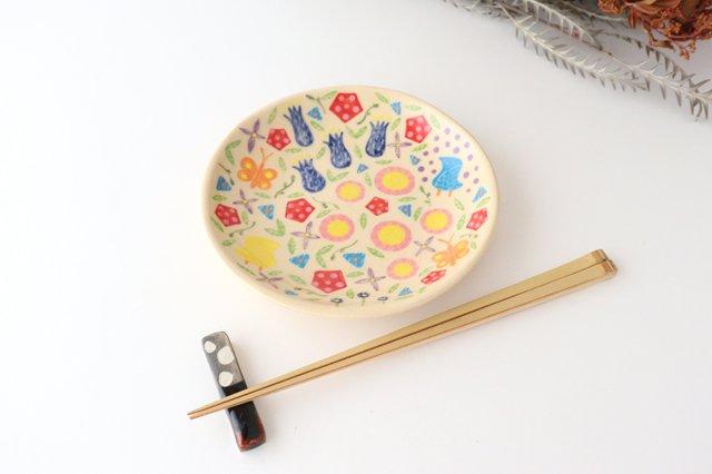 【一点もの】色絵付け丸皿 陶器 工房双子堂 やちむん 画像3