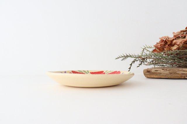 【一点もの】色絵付け丸皿 陶器 工房双子堂 やちむん 画像4