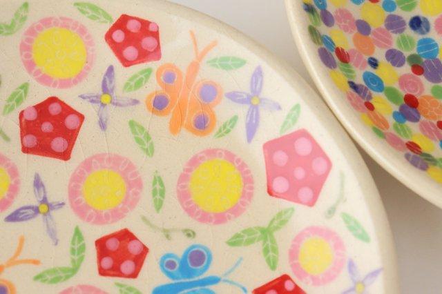 【一点もの】色絵付け丸皿 陶器 工房双子堂 やちむん 画像6