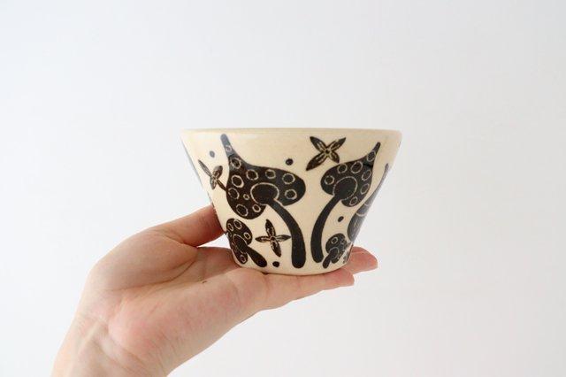 【一点もの】べんがら絵付けマカイ 陶器 工房双子堂 やちむん 画像3