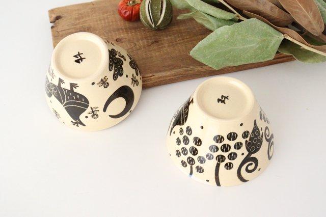 【一点もの】べんがら絵付けマカイ 陶器 工房双子堂 やちむん 画像4