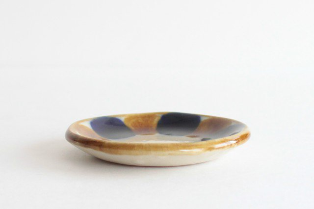 3.5寸皿 輪 陶器 土工房 陶糸 やちむん 画像2