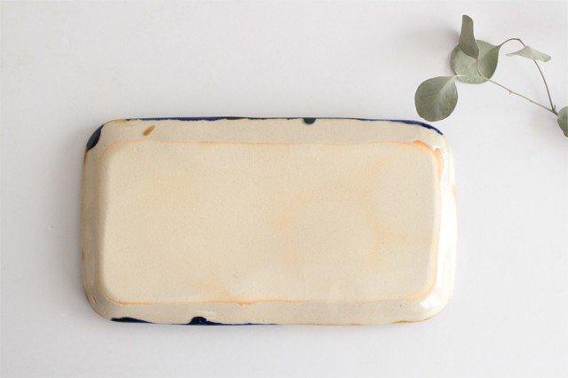 長方皿 幅広 泡 陶器 土工房 陶糸 やちむん 画像4
