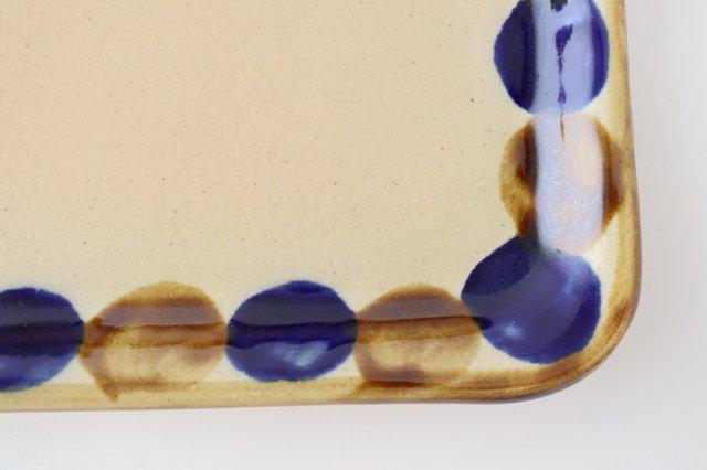長角皿 幅広 輪 陶器 土工房 陶糸 やちむん 画像2