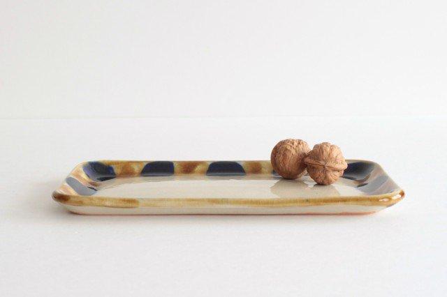 長角皿 幅広 輪 陶器 土工房 陶糸 やちむん 画像6
