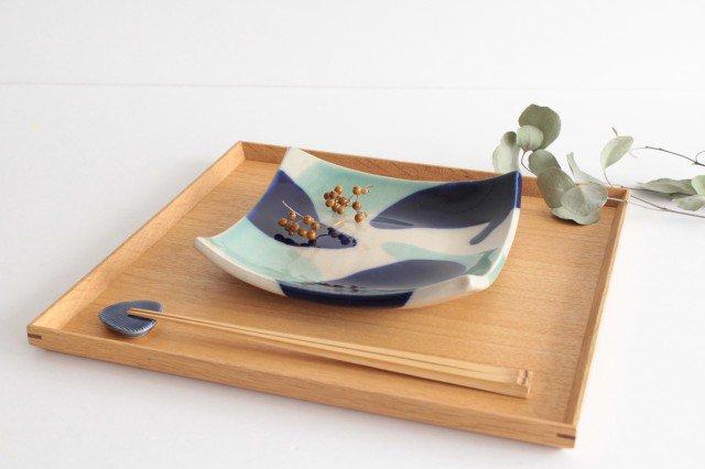 正角皿 海 陶器 土工房 陶糸 やちむん 画像2