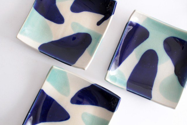 正角皿 海 陶器 土工房 陶糸 やちむん 画像4