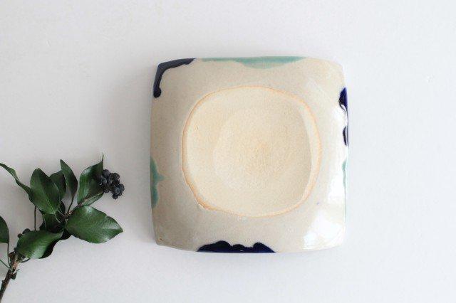 正角皿 海 陶器 土工房 陶糸 やちむん 画像6