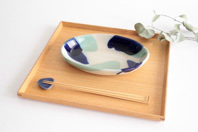 オーバル皿 海 陶器 土工房 陶糸 やちむん 画像5