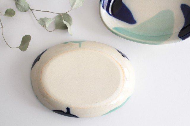 オーバル皿 海 陶器 土工房 陶糸 やちむん 画像6