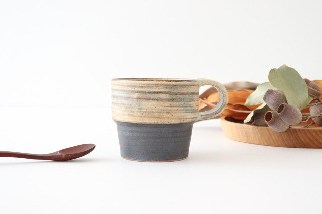 マグカップ 刷毛目 陶器 ツチノヒ やちむん