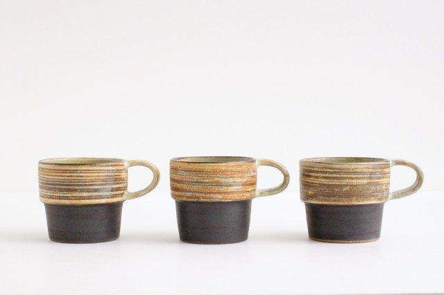 マグカップ 刷毛目 陶器 ツチノヒ やちむん 画像2