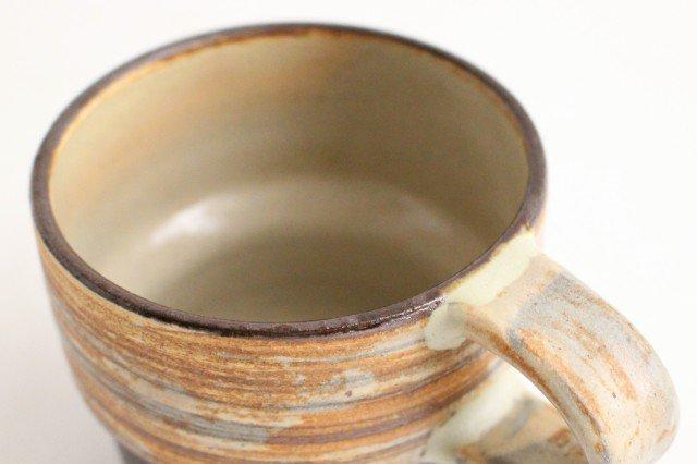 マグカップ 刷毛目 陶器 ツチノヒ やちむん 画像4