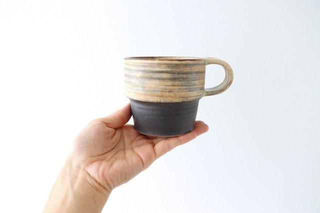 マグカップ 刷毛目 陶器 ツチノヒ やちむん 画像5