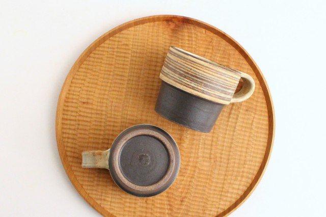 マグカップ 刷毛目 陶器 ツチノヒ やちむん 画像6