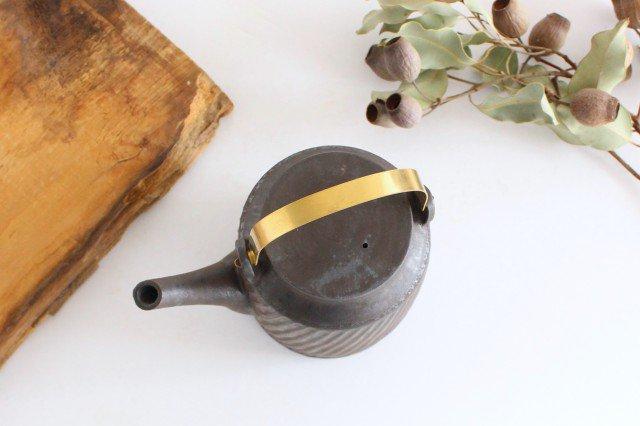 チューカー 大 しのぎ黒 陶器 ツチノヒ やちむん 画像4