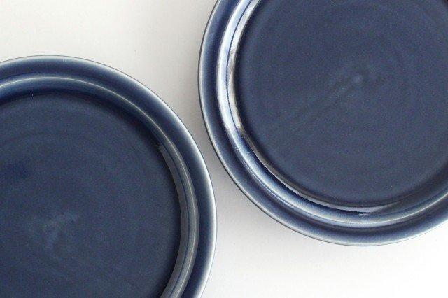 5寸皿 無地 ネイビー 半磁器 凸凸製作所 よぎみちこ やちむん 画像4