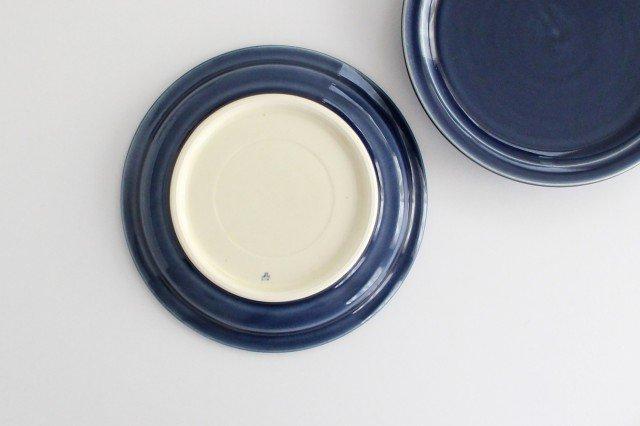 5寸皿 無地 ネイビー 半磁器 凸凸製作所 よぎみちこ やちむん 画像5