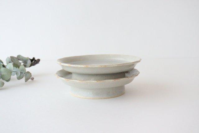 5寸コンポート やわグレー 陶器 たくまポタリー 画像6