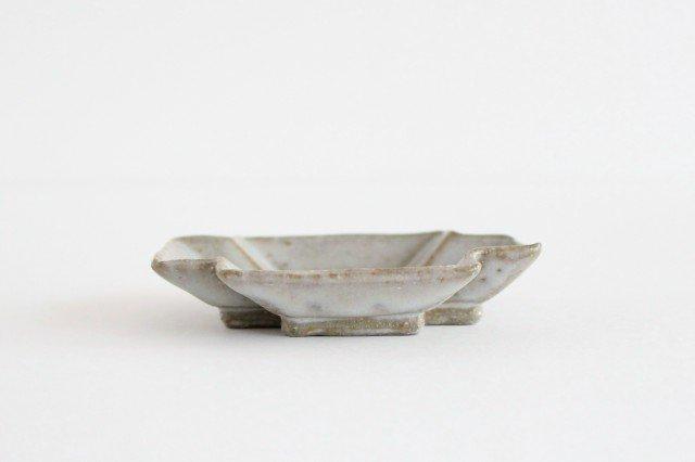 小皿 プラス グレー 陶器 たくまポタリー 画像2