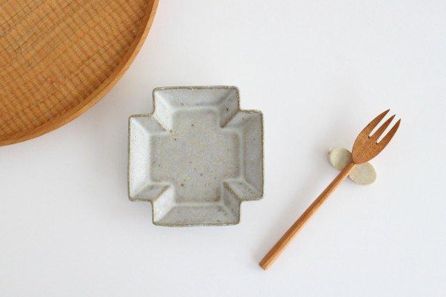 小皿 プラス グレー 陶器 たくまポタリー 画像3