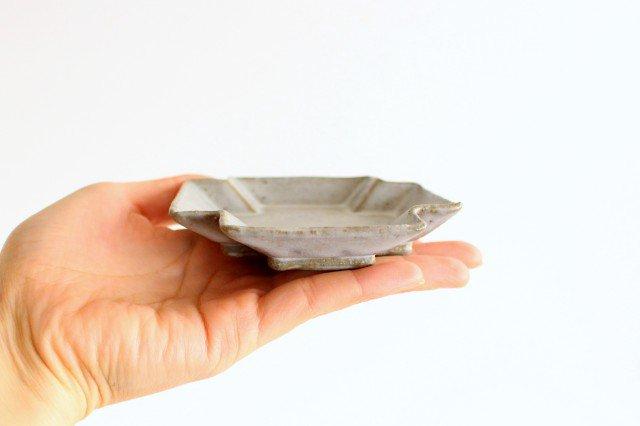 小皿 プラス グレー 陶器 たくまポタリー 画像5