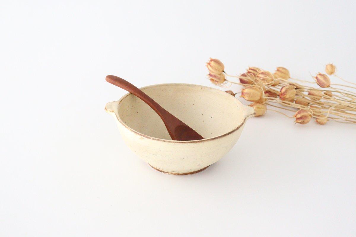 粉福 耳付きスープボウル L 陶器 木のね