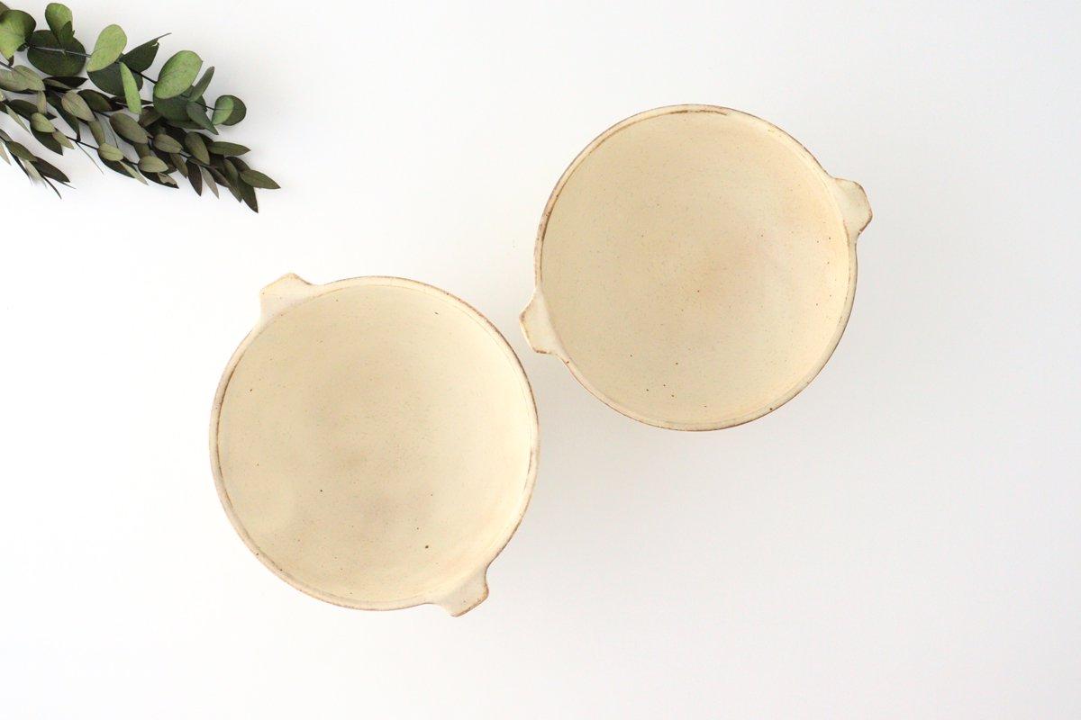 粉福 耳付きスープボウル L 陶器 木のね 画像2