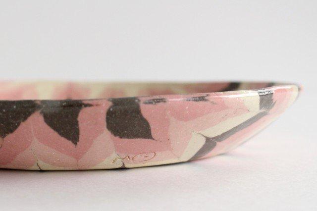 丸皿 大 羽根 ピンク 陶器 陶芸工房ももねり。 草なぎ桃江 画像5
