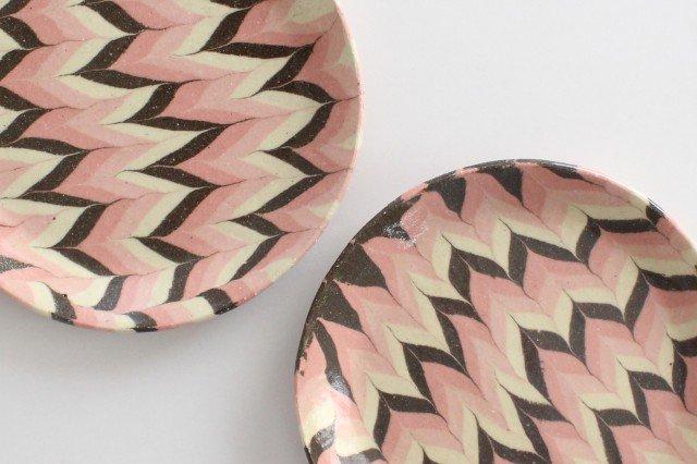 丸皿 中 羽根 ピンク 陶器 陶芸工房ももねり。 草なぎ桃江 画像6