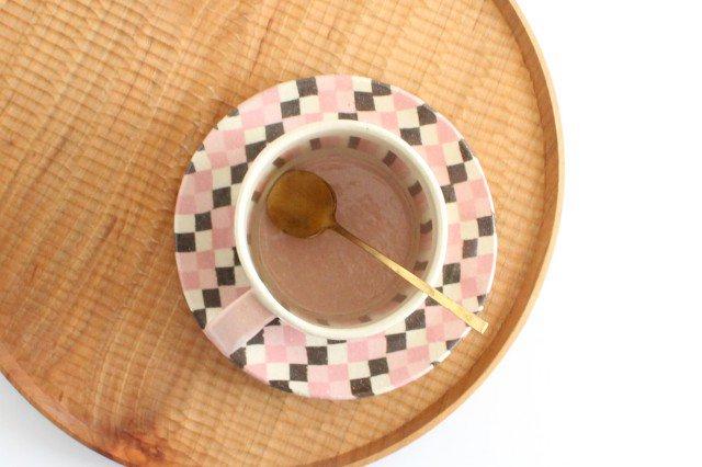 カップ&ソーサー 縞と市松 陶器 陶芸工房ももねり。 草なぎ桃江 画像3