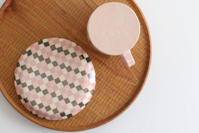カップ&ソーサー 縞と市松 陶器 陶芸工房ももねり。 草なぎ桃江 画像6