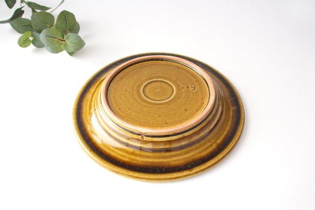 7寸リム皿 飴釉 陶器 はなクラフト 画像6