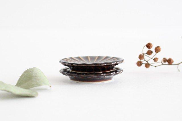 箸置き 漆(茶) 磁器 ぎやまん 美濃焼 画像2