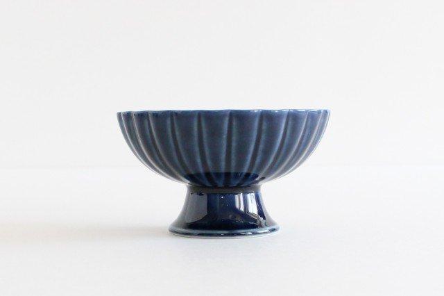 高台デザート 茄子紺(青) 磁器 ぎやまん 美濃焼 画像2