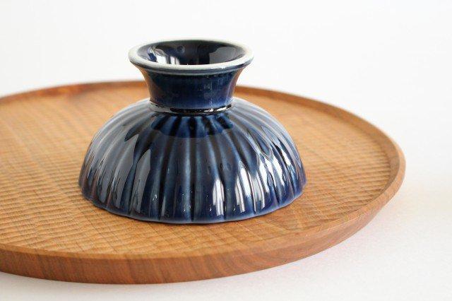 高台デザート 茄子紺(青) 磁器 ぎやまん 美濃焼 画像5