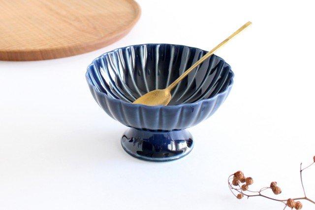 高台デザート 茄子紺(青) 磁器 ぎやまん 美濃焼 画像6