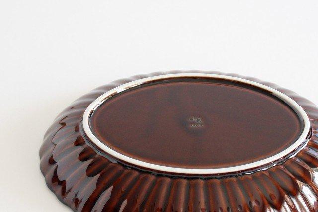 楕円大皿 漆(茶) 磁器 ぎやまん 美濃焼 画像3