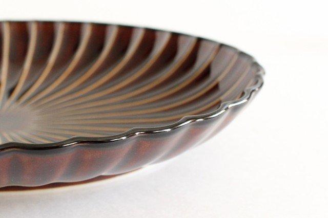 楕円大皿 漆(茶) 磁器 ぎやまん 美濃焼 画像6