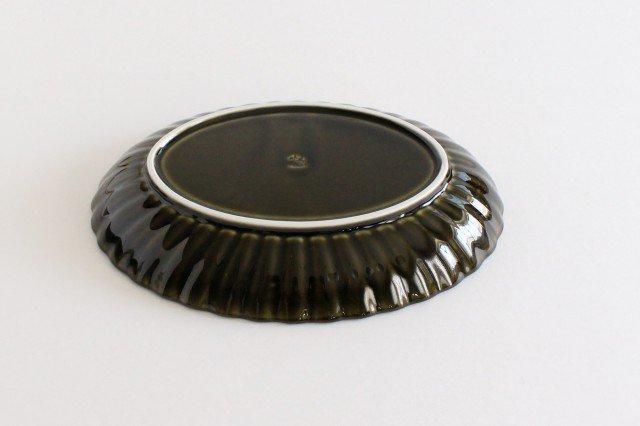 美濃焼 ぎやまん 楕円大皿 利休(緑) 磁器 画像4