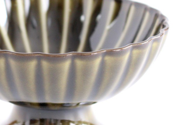 高台デザート 利休(緑) 磁器 ぎやまん 美濃焼 画像4