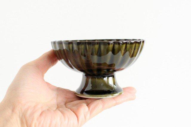 高台デザート 利休(緑) 磁器 ぎやまん 美濃焼 画像5
